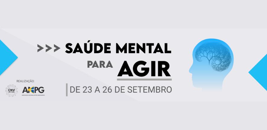 Banner Saúde Mental para Agir - 23 a 26 de Setembro